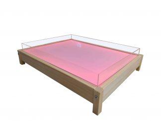 Rinkinys šviesos stalas Žemas Medinukas + Smėlio ir Vandens antstalis